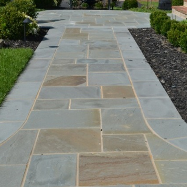 A flagstone pathway