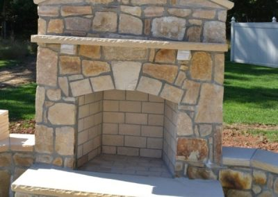 Prefab Fireplace Veneered With South Bay